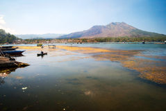 Danar batur lake in volcanic caldera, Bali, Indonesia Royalty Free Stock Photos