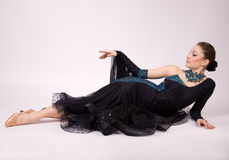 Dançarino bonito no vestido Fotografia de Stock Royalty Free