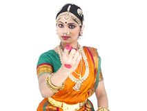 Dançarino clássico fêmea de india Fotografia de Stock Royalty Free