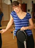 Dançarino da mulher Fotos de Stock
