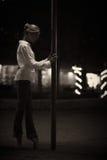Dançarino de bailado moderno Fotos de Stock Royalty Free