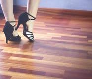 Dançarino do latino da dança de salão de baile Foto de Stock Royalty Free