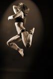 Dançarino moderno da mulher no salão de baile Fotografia de Stock Royalty Free