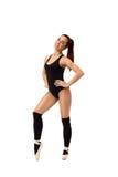 Dançarino moderno encantador, isolado no contexto branco Imagem de Stock
