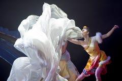 Dançarino nacional tibetano Fotografia de Stock