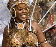 Dançarino no carnaval de Notting Hill, Londres Imagens de Stock Royalty Free