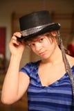 Dançarino novo com chapéu superior Fotografia de Stock Royalty Free