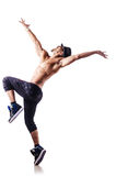 Dançarino nu isolado Imagens de Stock Royalty Free