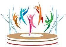 Dançarinos abstratos Imagem de Stock Royalty Free