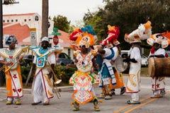 Dançarinos de Junkanoo Fotografia de Stock Royalty Free