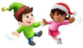 Dançarinos do Natal do divertimento Imagem de Stock Royalty Free