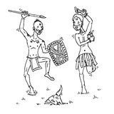 Dançarinos tribais masculinos Imagens de Stock Royalty Free