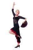 Danças da dança do dançarino Fotografia de Stock Royalty Free