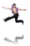 Danças da dança do dançarino Imagem de Stock