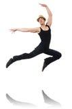 Danças da dança do dançarino Fotos de Stock Royalty Free