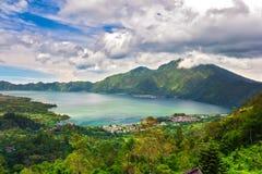 Danau Batur, Gunung Batur, Kintamani, Bali, Indonezja obraz stock