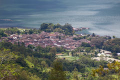 Danau Batur lake near volcano Batur, Bali, Indonesia Stock Photography