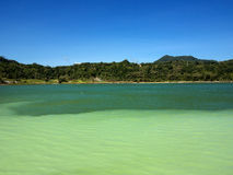Danau Linow in Tomohon, North Sulawesi, Indonesia. Royalty Free Stock Photography