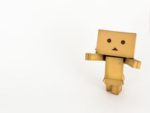 Danbo with outstretched arms. Cute Danbo character posing adorably with outstretched arms Royalty Free Stock Photography