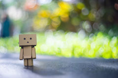 Danbo toy photographer with bokeh Stock Photo