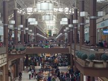 Danbury ganska galleria i Connecticut, USA arkivbilder