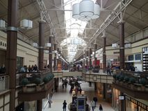 Danbury ganska galleria i Connecticut, USA royaltyfria foton