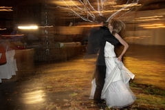 Dance #1. Couple dancing on their wedding day Royalty Free Stock Photo