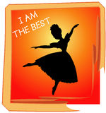 Dance. Best Dance Performance vector created in Illustrator Stock Images