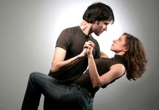 Dance 158. Man and woman tango together Stock Photo