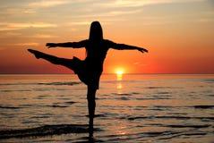 Dance. Girl dancing in the water Stock Photo