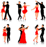 Dance. Couples are dancing in different styles Stock Photography