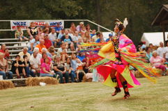 The Dance. Native American woman dances at the Trial of Tears Pow Wow in Hopkinsville, KY Royalty Free Stock Images