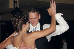 Dance. A bride and groom dancing on their wedding day Royalty Free Stock Photography