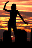 Dance. Dence at sunset Royalty Free Stock Photography