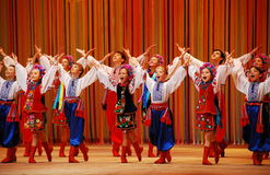 Dance. Concert of the world-wide Ukrainian folk ensemble of dance of the name of P.P. Virskogo passed in Kiev 11.10.2008 Royalty Free Stock Photo