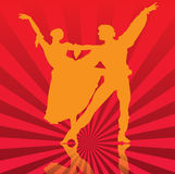 Dance. Silhouette illustration of a couple swing dancing Royalty Free Stock Image