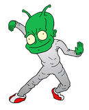 Dance alien Royalty Free Stock Photography
