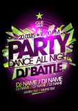 Dance all night party design. Royalty Free Stock Photography