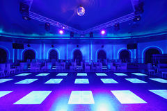 Dance area with blue light in Cosmodrome Stock Image