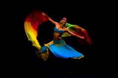 Dance. AVSALLAR, TURKEY - JULY 02, 2014: Oriental dance. Evening performance for holidaymakers in the Mediterranean tourist village Avsallar, Antalya Province Stock Photo