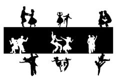 Dance background silhouette Royalty Free Stock Photo
