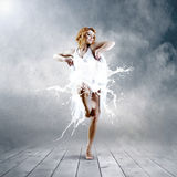 Dance of ballerina Stock Images