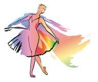 Dance ballerina girl vector illustration