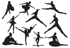 Dance of ballet stock illustration