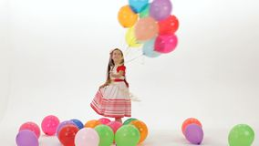 Dance With Balloons stock footage