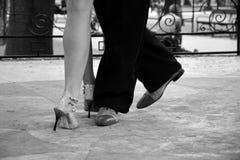 Dance. Ballroom dancing. Tango on the street. Show on the dance floor Royalty Free Stock Photos
