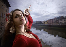 Dance on the bank of the Arno. Royalty Free Stock Photos