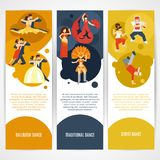 Dance Banner Set Royalty Free Stock Photos