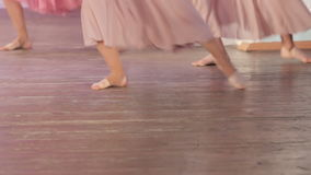 Dance barefoot on stage stock video footage