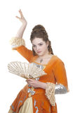 Dance in baroque dress Royalty Free Stock Images